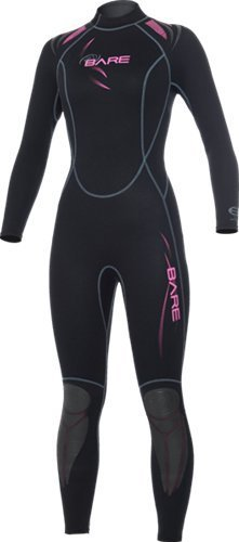 Bare Womens 1mm Sport Full Wetsuit (Pink, (Bare Dive Suits)