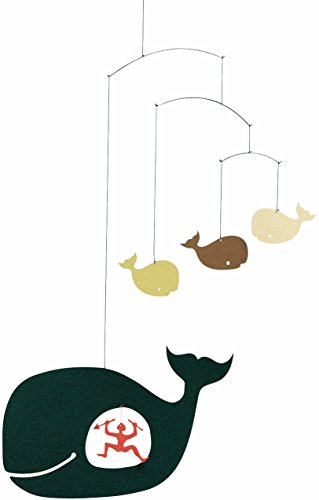 Flensted Mobiles Jonah And The Whale Hanging Nursery Mobile - 15 Inches Cardboard