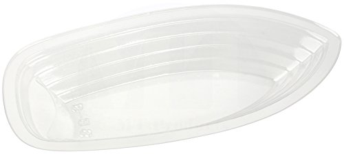 Split Lid - MT Products 12 oz. Clear Plastic Disposable Banana Split Boat (30 Pieces)