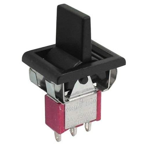 Potelin Premium Quality AC 250V/3A 125V/5A Momentary SPDT 3 Positions Toggle Switch T80-R
