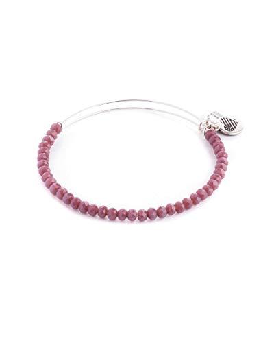 Alex and Ani Women's Opal Purple Beaded Bracelet Silver One -