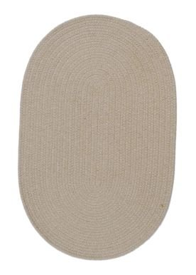 Solid Wool Blend Oatmeal Rug Rug Size: Round 11'