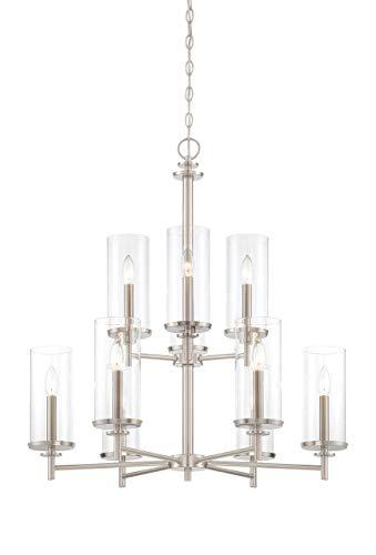 (Designers Fountain 87289-SP Harlowe 9 Light Chandelier, 29
