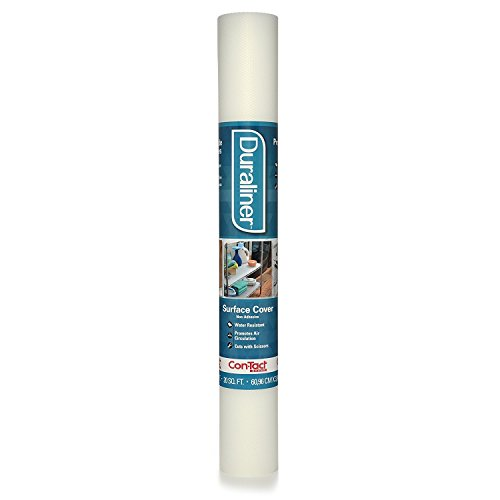 Con-Tact Brand Duraliner Non-Adhesive Vinyl Shelf and Drawer Liner, 10F-CL5P10-06, 24Wx10L, Diamond Clear