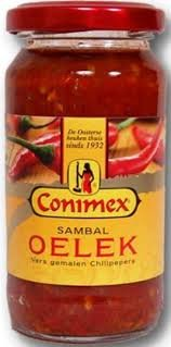 Conimex Sambal Oelek Hot Chilli Paste (Economy Case Pack) 11 Oz Jar (Pack of 6) by Conimex (Image #1)