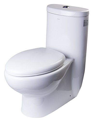 EAGO TB309 Tall Dual Flush Eco-Friendly Ceramic Toilet, 1-Piece