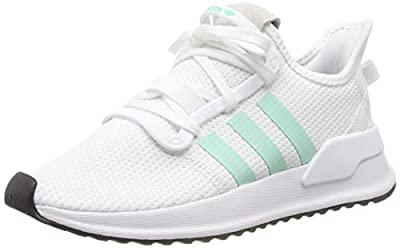 adidas Women's Low-Top Trainers, White Clear Mint Black, 6.5 us