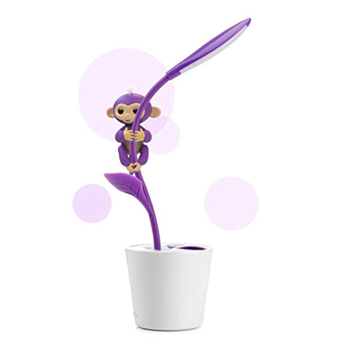 Fanxing Monkey Toy Stent  Dimmable Eye Caring Bedroom Table Led Light Cute Pen Holder  Purple