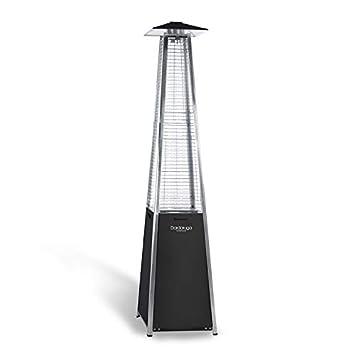 DARDARUGA - Estufa de pirámide calefactora para Exteriores, termostato, de Calor, 10, 5 kW, Color Negro: Amazon.es: Jardín