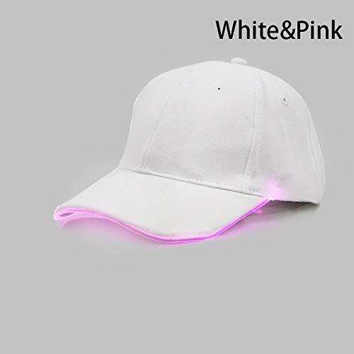 (New Punk Style LED Light Baseball Cap Hat Luminous Cap Fashion Snapback Hat Fiber Optic Hat Tourism K)