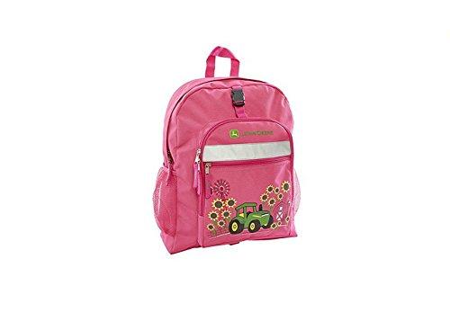 John Deere Girls' Sunflower Backpack, Magenta