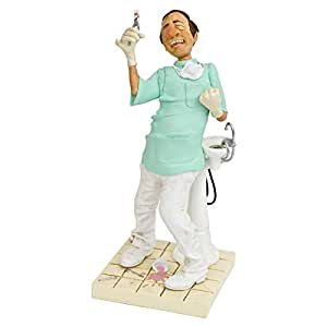 Guillermo Forchino Polyresin Comic Art Of The Dentist - Green And White