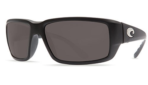 Costa Del Mar Fantail 580P Fantail, Matte Black Global Fit Gray, - Del Costa Fantail Mar