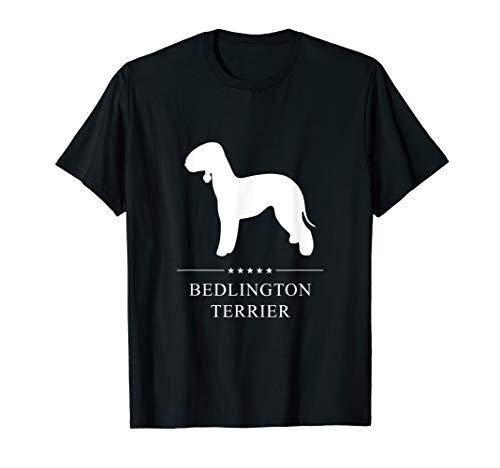 Bedlington Terrier: White Silhouette T-Shirt ()