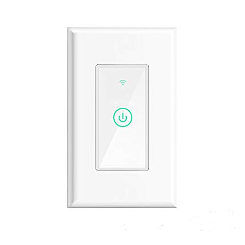meross Smart Light Switch,Wi-Fi Wall Light Switch,Compatible with Alexa,Google Home and IFTTT,with Remote Control and Timer,No Hub required, Wireless,White (1-PACK)