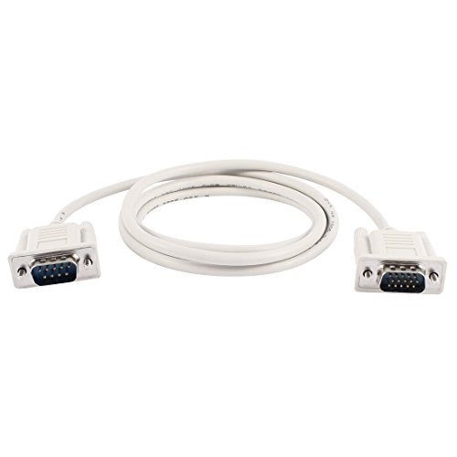 - Yohii 1.35M/4.4ft DB9 9 Pin Male to VGA Video 15 Pin Male Serial Port Cable RS232 Light Gray