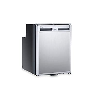 DOMETIC Coolmatic CRX 50 Kompressor-Kühlschrank, 45 l, in Edelstahl-Optik, 12/24 Volt für Wohnwagen, Wohnmobil, Caravan…