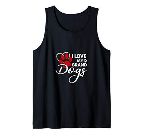 (I Love My Granddogs Tshirt Funny Dog Lovers shirt gift Tank Top)
