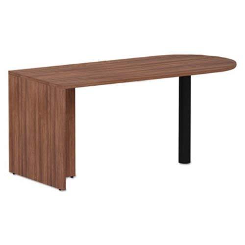 - Alera VA276630WA Valencia Series D-Top Desk, 65-Inch x 29.53-Inch x 29.53-Inch, Modern Walnut