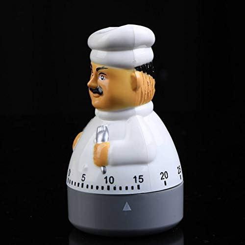 Fengyuanhong Männlich Chef-Küche-mechanischer Timer 1-60 Minuten Cartoon Manuelle Timer Home Office Klassenzimmer Spiele Clock