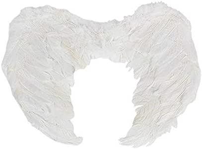 إينجل فيذر وينجز كريسماس كارول التنكرية لحفلات الهالوين ريش آنجل وينج