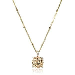 "Vera Bradley Sparkling Light Champagne Pendant Necklace, 18"" + 3"" Extender"