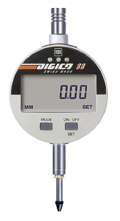 "Brown & Sharpe 599-1034 Digico 10 LCD Electronic Indicator, M2.5 Thread, 8mm Stem Dia., 0-1""/0-25mm Range, 0.00005""/0.001mm Graduation, +/-0.005mm Accuracy"