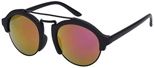 Edge I-Wear Double Bridge Half Frame Sunglasses with Color Mirror Lens - Subculture Indie