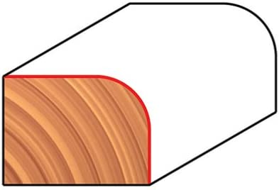 34-106 Freud 5//32 Radius Rounding Over Bit with 1//4 Shank