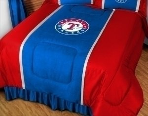 Texas Comforter Sidelines (MLB Texas Rangers Sidelines Comforter, King, Bright Blue)