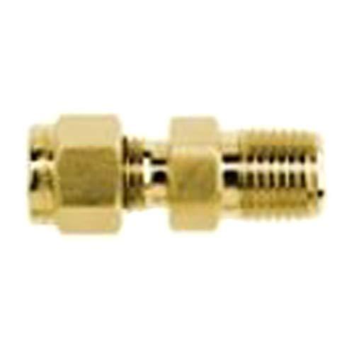 Brennan Industries N2404-02-04-B Brass Straight Double-Ferrule Tube Fitting 1//8 Tube x 1//8 Male NPT 1//4 NPT Male Thread 1//8 Tube x 1//8 Male NPT Inc. 1//4 NPT Male Thread