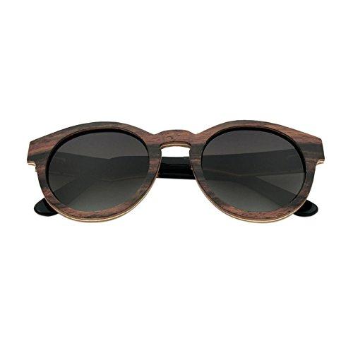 Lunettes Bois soleil protection Gris de Resin UV400 de Lentilles Polarisé Eyewear Meijunter Real Des RevêteHommest lunettes Unisexe tX5wRR
