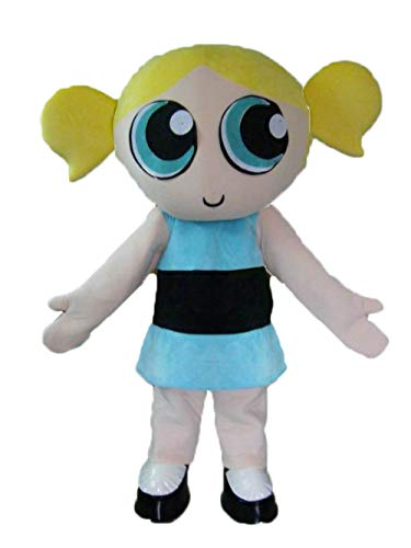 ARISMASCOTS Adult Size Fancy Powerpuff Girls Mascot Costume Cartoon Character Costumes for Birthday Party ()