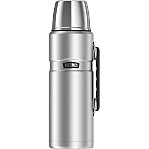 Thermos Stainless King 68 Ounce Vacuum Insulated Beverage Bottle with Handle, Stainless Steel
