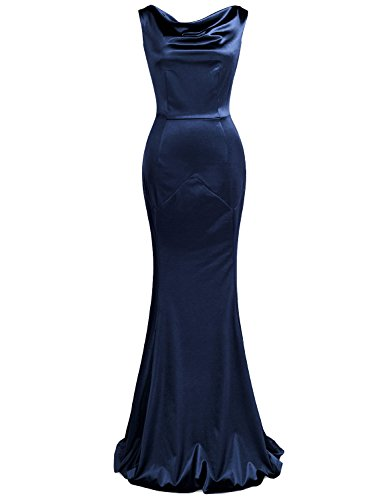MUXXN Women's Gorgeous Vintage Mermaid Dress Wedding Gown (Blue XL)