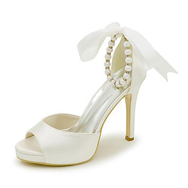 Spring Satin Wedding Summer Sandals Ivory Party Fall Shoes Evening Women'S Sandals amp;Amp; Dress xSwqE5