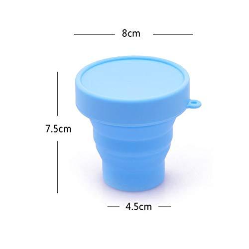 Blau Gr/ün Losuya 2 st/ücke Faltbare Silikon Tasse Outdoor Reise Camping Tasse Faltbare Lagerung Sterilisierbecher Mond Tasse
