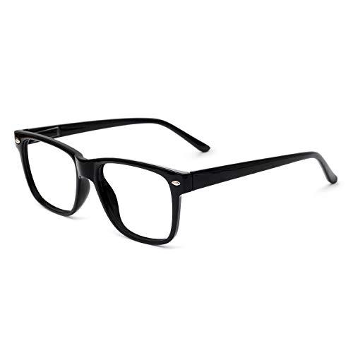 OCCI CHIARI Reading Glasses Men Women Comfort Prescription Eyeglasses Spring Hinge (100 125 150 175 200 225 250 275 300 350) 2.25 Black ()