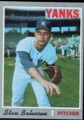 1970 Topps Regular (Baseball) Card# 568 Stan Bahnsen of the New York Yankees Ex Condition