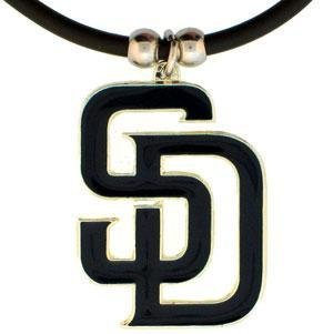 - MLB San Diego Padres Rubber Cord Necklace