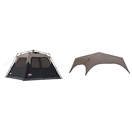 best loved 3abbd 366fb Amazon.com : Coleman 6-Person Instant Cabin Tent and Coleman ...