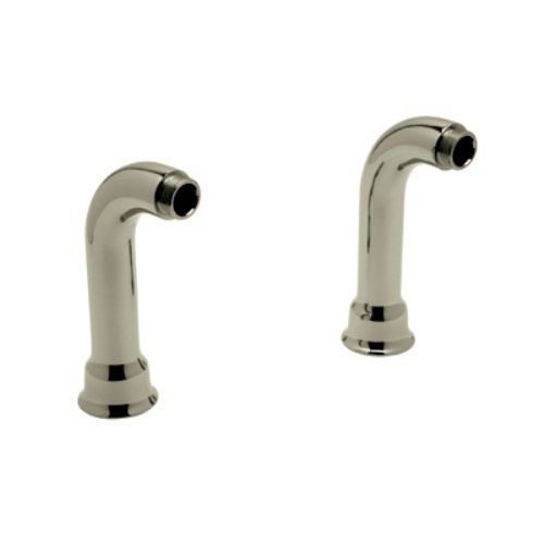 Rohl AR00380-STN 6-1/2-Inch Length Cisal Pair of Deck Unions for Exposed Tub Filler Mixers Ac7X A1401 and A1901 in Satin ()