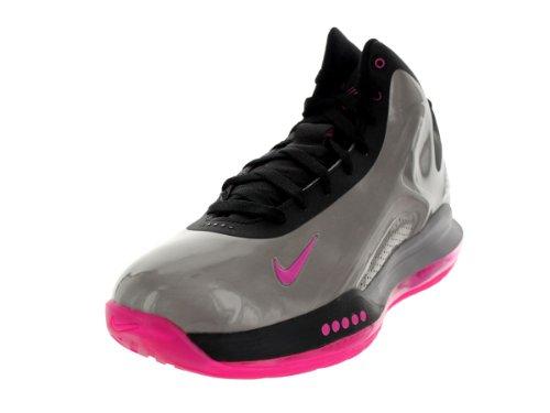 Nike Mens Hyperflight Max Basketbalschoenen Mtlc Tin / Roze Folie / Zwart