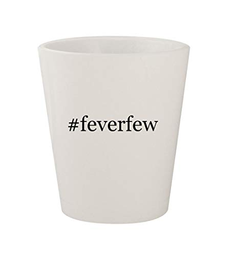 #feverfew - Ceramic White Hashtag 1.5oz Shot Glass