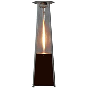 True Commercial (Propane) Hammered Bronze 3 Sided Pyramid Style Quartz Tube  Patio Heater