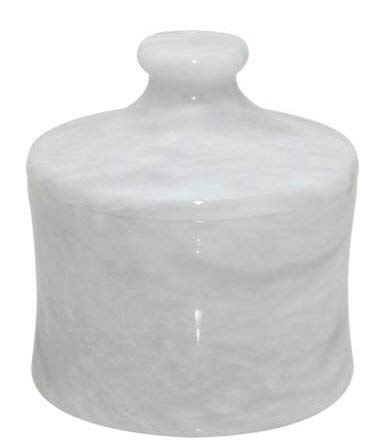 Khan Imports White Marble Pet Urn, Stone Pet Cremation Urn for Cat or Small Dog Ashes - Up to 12 Pounds ()