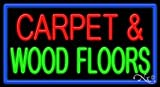 Carpet & Wood Floors Business Neon Sign - 20 x 37 x 3 inches - Made in USA