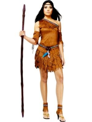 Fun World Women's Pow Wow, Brown, M/L Size 10-14 -