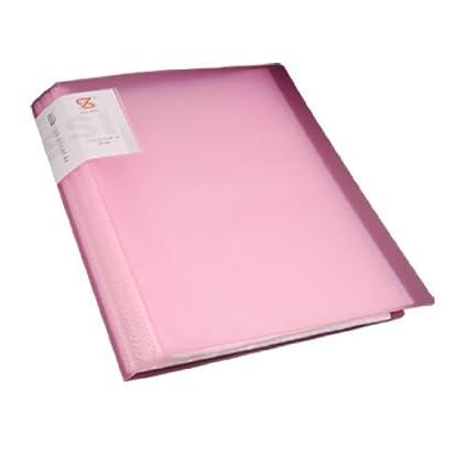 Escuela de plástico eDealMax Oficina A4 de Papel Protector Diaplay Libro Titular de archivos Rosado claro