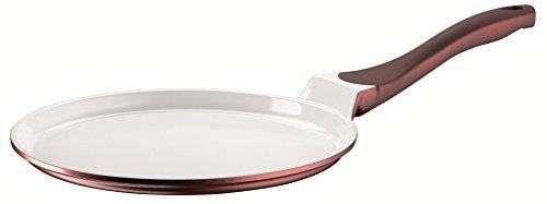 Domestic TOP Selection by Mäser, Serie Himalia, Crêpes-Pfanne 26 cm, antihaftbeschichtet, mit weißer ILAG-CERAMIC-Beschichtung, in der Farbe Bordeauxrot